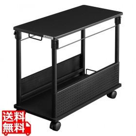 昇降式L字デスク ( ブラック ) BHD-670H-BK【時間...