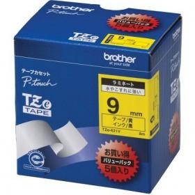 TZeテープ ピータッチ専用テープ(黄テープ/黒字) ...