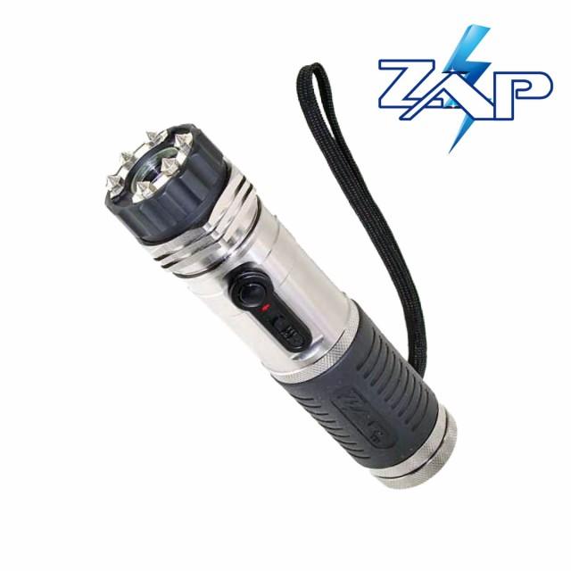 ZAP LEDライト付 スタンガン 100万ボルト 充電式 ...