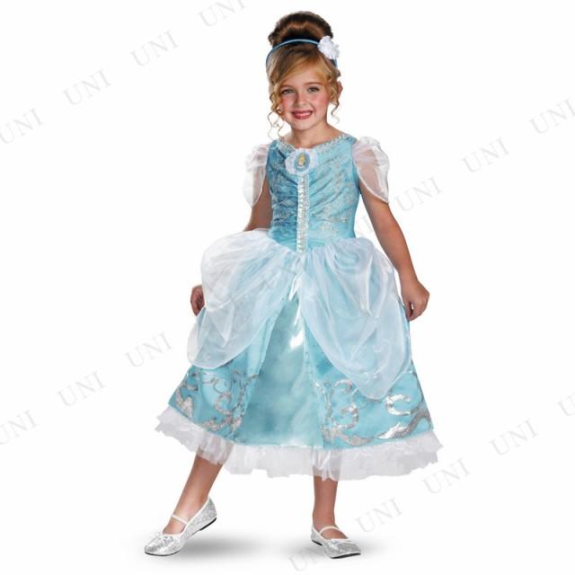bff7126a210ea DXシンデレラドレス スパークル 女の子用 S(4-6x) コスプレ 衣装 ...