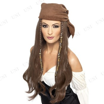 パイレーツウィッグ コスプレ 衣装 ハロウィン 大人用 パーティーグッズ かぶりもの ウィッグ かつら カツラ 海賊 パイレーツ 女性用 ハ