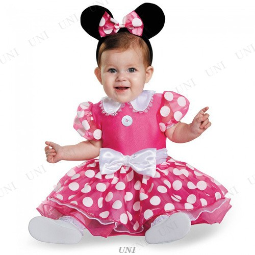 c27a74ef65b4a ピンクミニーマウス プレステージ ベビー用 S 衣装 コスプレ ハロウィン 仮装 子供 ディズニー コスチューム !