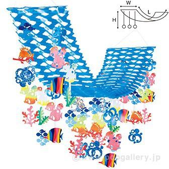 カラフルマリンプリーツハンガー | 夏の吊り装飾...
