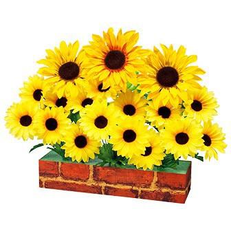 DXひまわりプランター|夏装飾|向日葵造花