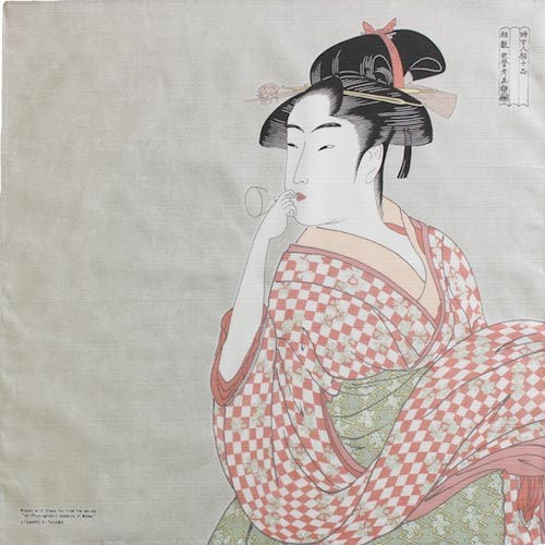 『隅田川 綿チーフ小風呂敷(ふろしき)48cm ビ...