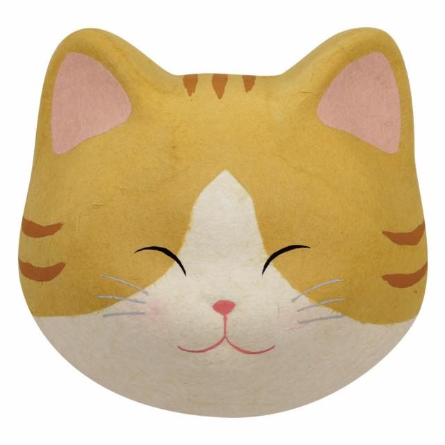 「(大)猫の顔マグネット 黄トラ猫」手作りちぎり...