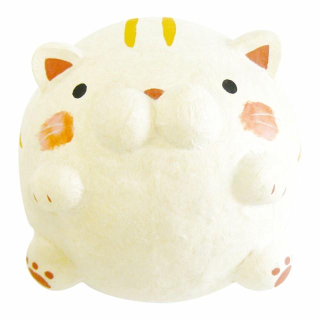 「ちぎり和紙 大福にゃんこ トラ猫」手作りちぎ...