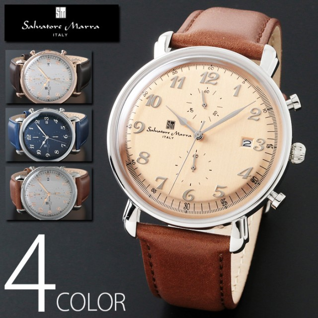 3気圧防水 クロノグラフ 腕時計 メンズ 1年保証 ...
