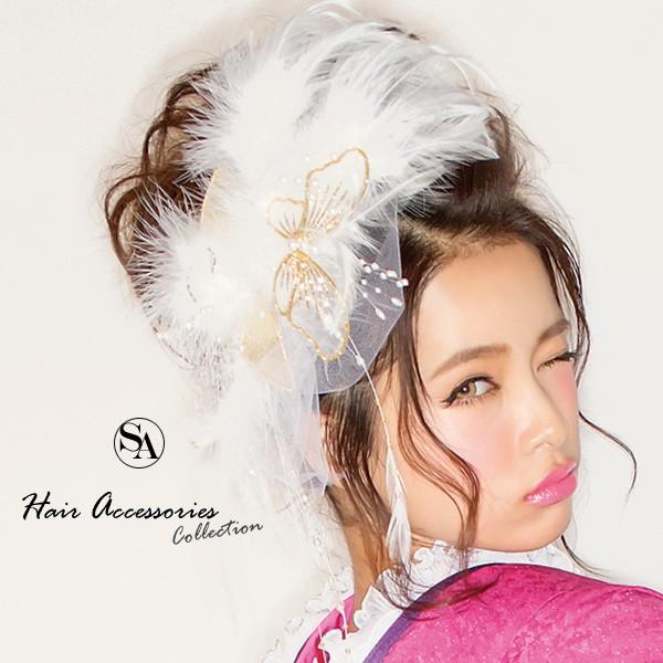 送料無料 成人式 髪飾り 尾崎紗代子chan着用 白 G...
