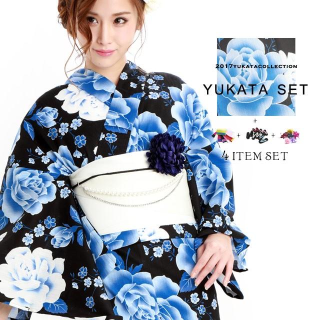 浴衣4点セット【YS244】浴衣 レディース 大人浴衣...