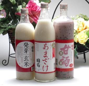 【2セット豪華甘酒3本セット】篠崎 国菊 あまざ...