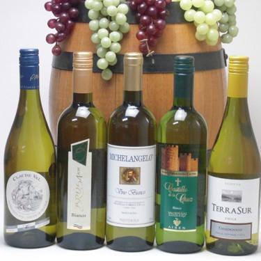 金賞受賞酒の入ったセレクション白ワイン5本セッ...