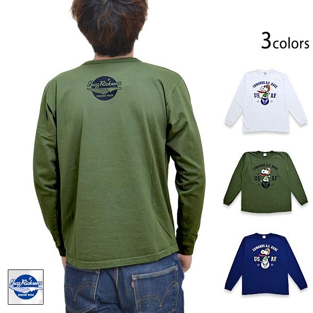 BUZZ×PEANUTS長袖Tシャツ「USAF」◆BUZZ RICKSON...