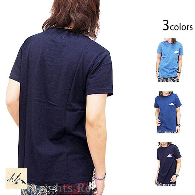 インディゴカットワーク半袖Tシャツ「富士山」◆H...