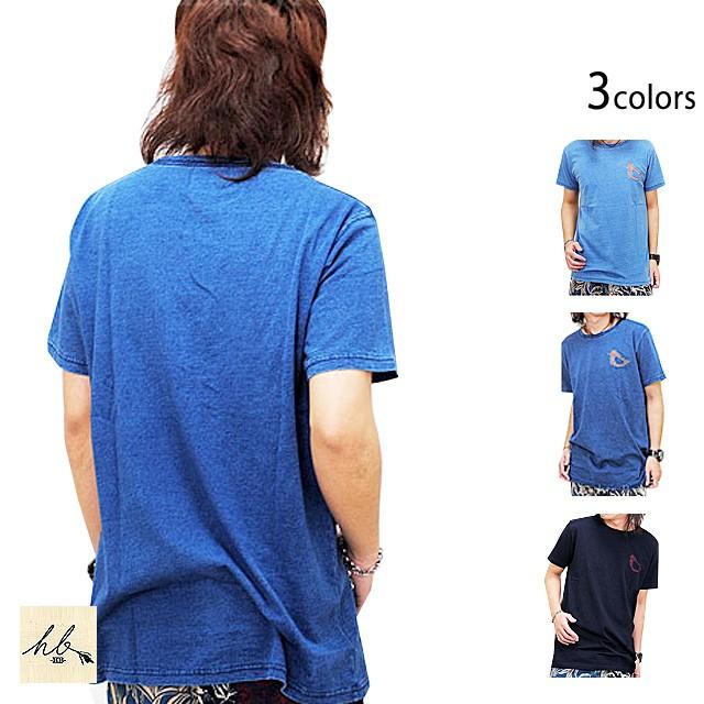 インディゴカットワーク半袖Tシャツ「鳩」◆HB