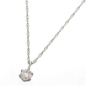 K18 ダイヤモンド 0.1ct ペンダント ネックレス ...
