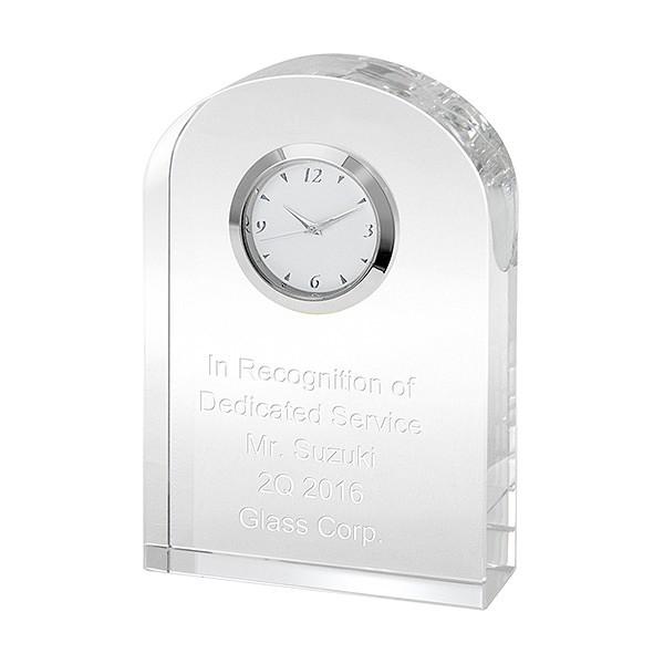 【名入れペーパーウェイト】【名入れ置き時計】【敬老の日の記念品】【名入れ無料】クリアブリッジ クロック【送料無料】