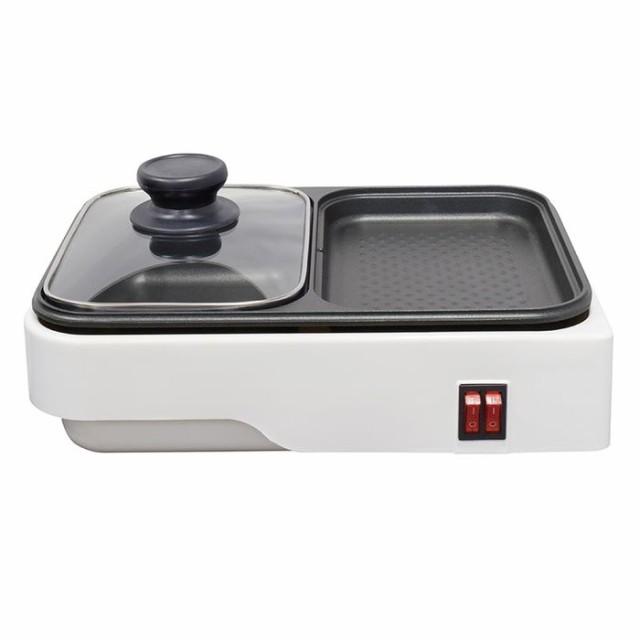 オーム電機 COK-YH100B-W 【鍋料理と焼き料理を一...