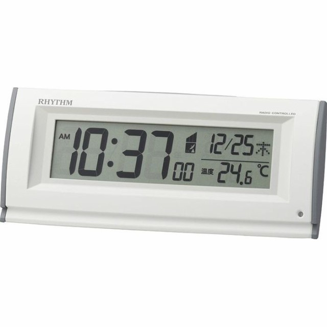 リズム時計 【送料無料】8RZ216SR03 電波時計 目...