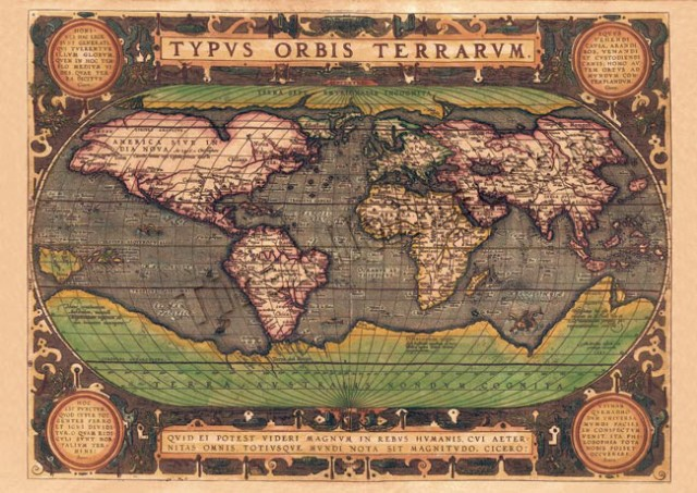 【16世紀】アンティーク地図ポスター TYPVS ORBIS...