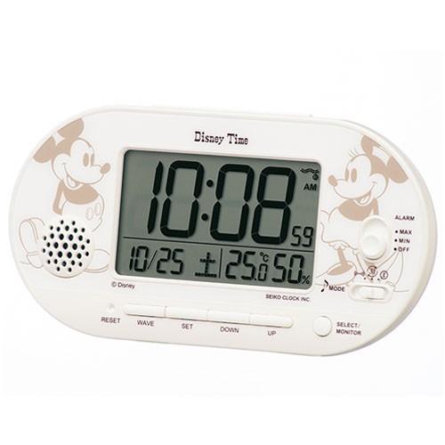 セイコー FD482A 電波目覚まし時計 Disney ミッキ...
