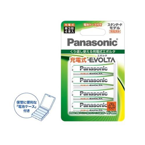 パナソニック BK-3MLE/4BC 充電式エボルタ 単3形 ...