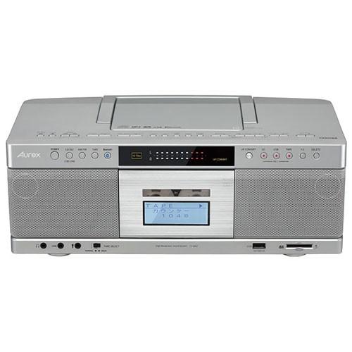 東芝 TY-AK2(S) (シルバー) Aurex CDラジオカセッ...