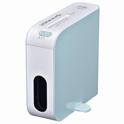 オーム電機 SHR-RM602T-A(ブルー) 卓上スリムシュ...