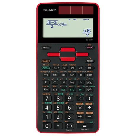 シャープ EL-509T-RX(レッド) 関数電卓 10桁