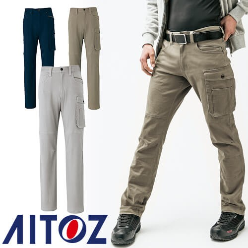 アイトス AZ-7893 ストレッチカーゴパンツ(ノー...
