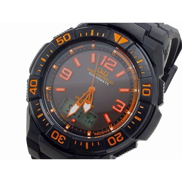 シチズン メンズ 腕時計/CITIZEN Q&Q 電波 ソーラ...