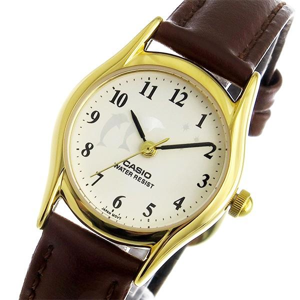カシオ レディース 腕時計/CASIO レザー 腕時計 ...