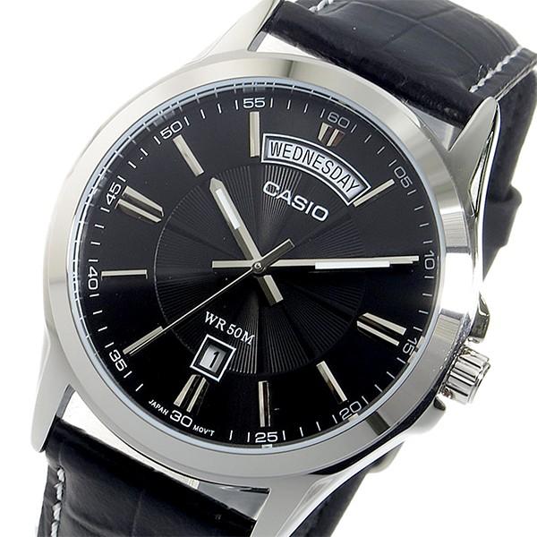 カシオ メンズ 腕時計/CASIO 逆輸入 レザー 腕時...