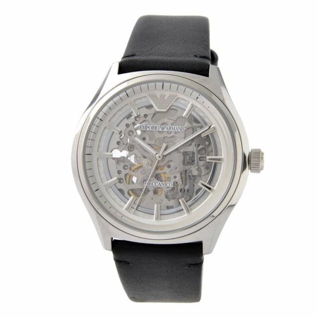 huge discount 3f6bc 0dd3a [即日発送]エンポリオアルマーニ メンズ 腕時計/EMPORIO ARMANI 自動巻き 機械式 手巻き 腕時計 シルバー/ブラック|au  Wowma!(ワウマ)