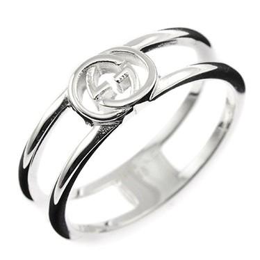 f3e257d7ded1 グッチ レディース&メンズ リング 指輪12号/GUCCI ロゴ リング 指輪 シルバー