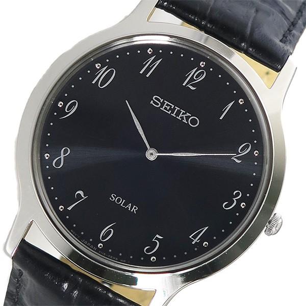 セイコー メンズ 腕時計/SEIKO レザー ソーラー ...