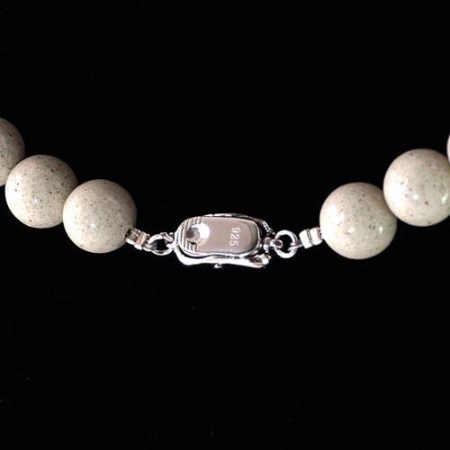 TENKAPAS 【長さ約45cm】 台湾からの宝もの♪北投石 10mm ネックレス【癒し・マイナスイオン】 【天然石
