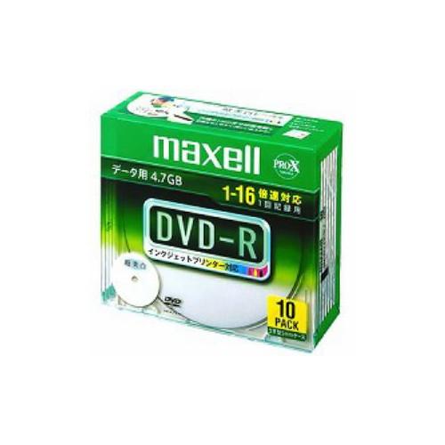 maxell データ用DVD-R 4.7GB 16倍速プリンタブルワイド 10枚 DR47WPD.S1P10S A