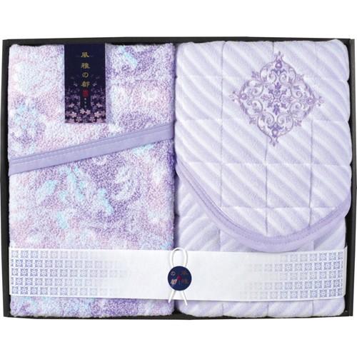 京都西川 風雅の都 タオルケット&敷きパッド C8136127