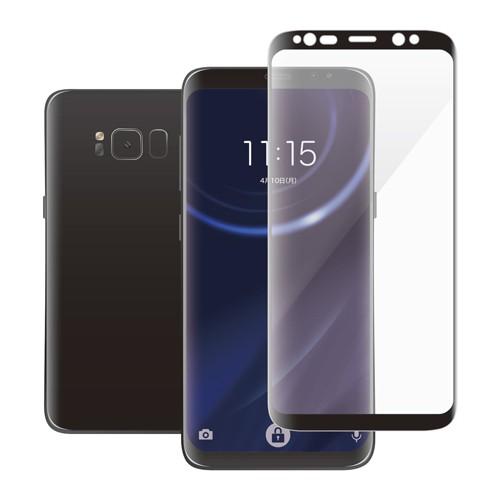 エレコム Galaxy S8用フルカバーガラスフィルム/0.33mm PM-GS8FLGGRBK