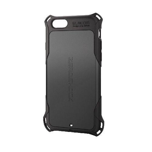 エレコム iPhone6s/6用ZEROSHOCKケース/ブラック PM-A15ZEROBK
