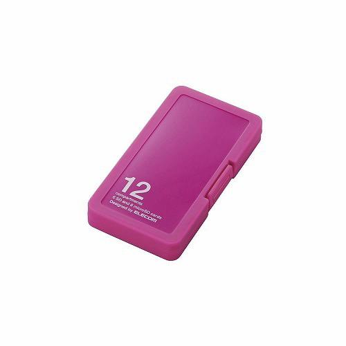 エレコム SD/microSDカードケース(プラスチックタイプ) CMC-SDCPP12PN