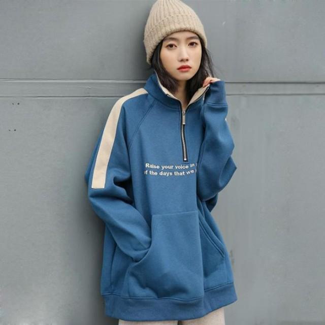 送料無料 韓国 ファッション レディース スウェット ストリート