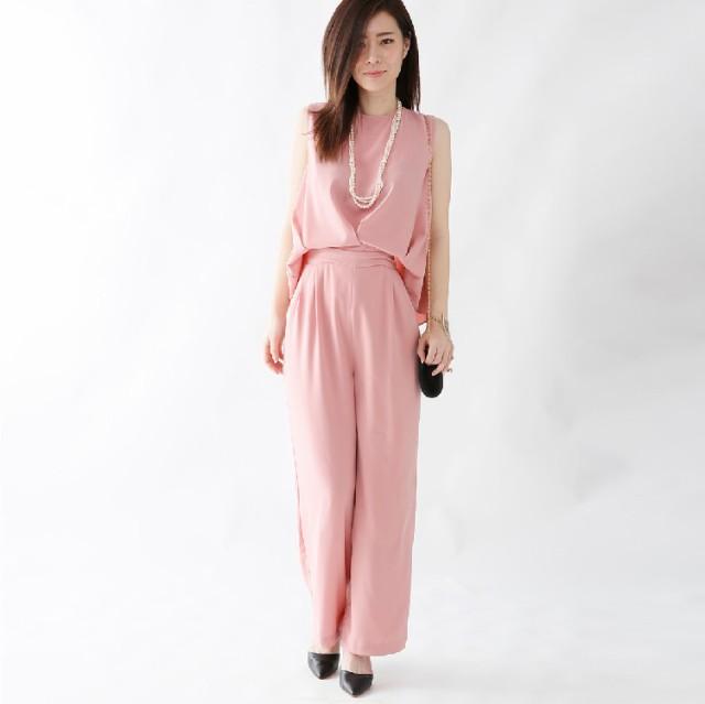 送料無料 パーティードレス オールインワン パンツドレス 結婚式 レディース ママ 大きいサイズ お呼ばれ ドレス