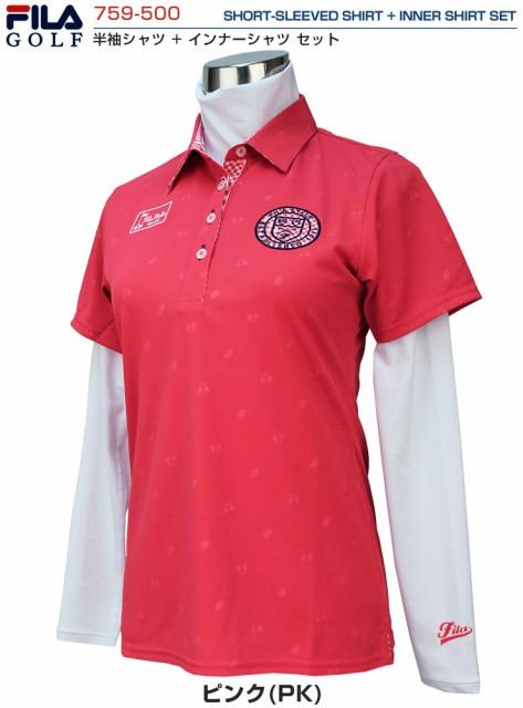 997f06fca8c3f フィラゴルフ レディース ゴルフウェア 半袖ポロシャツ + ハイネック 長袖インナーシャツ セットアイテム 759-