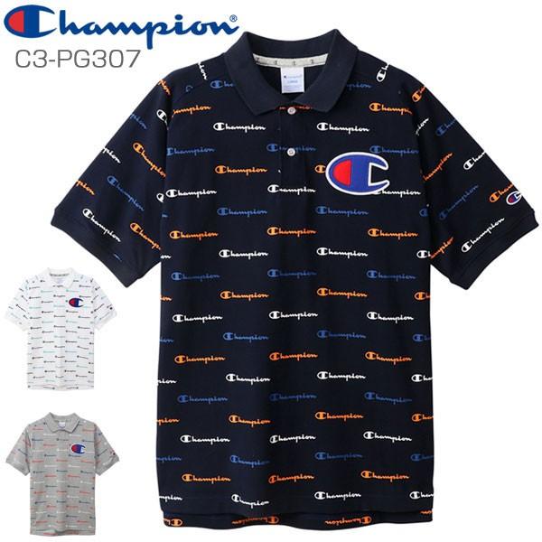 d5722a2b9f1da チャンピオン ゴルフウェア メンズ ロゴ柄 半袖ポロシャツ C3-PG307 2019年春夏モデル