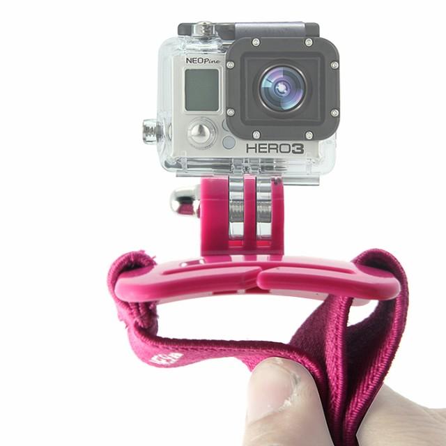 【NEOPine】調節可能 回転バンド ホルダー GoPro カメラ 手首 ストラップマウント リストストラップ ◇GWS-1