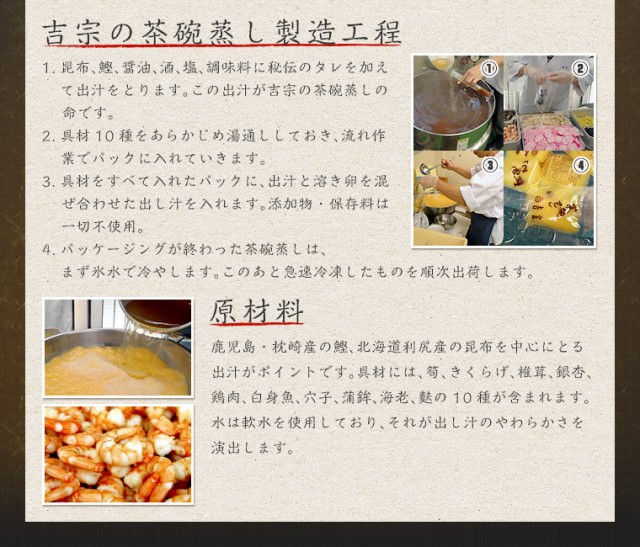 吉宗の茶碗蒸し製造工程