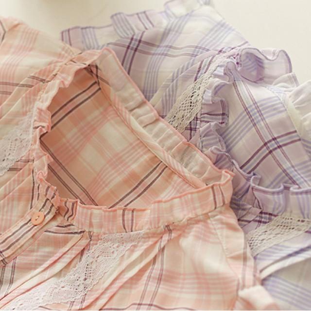 送料無料前開き 夏パジャマ 2点セット パジャマ 女性用パジャマ レディースパジャマ ルームウェア 前開き 寝間着 可愛い 大人