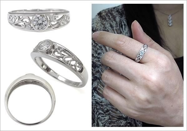 指輪 唐草 ダイヤモンドリング